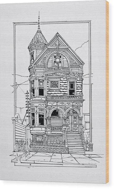 San Francisco Victorians  Wood Print