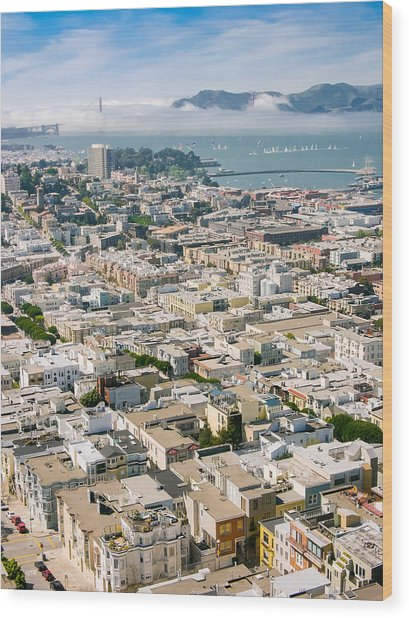 San Francisco Vista Wood Print