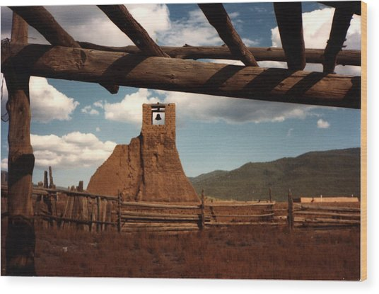 San Geronimo Church Ruins Wood Print