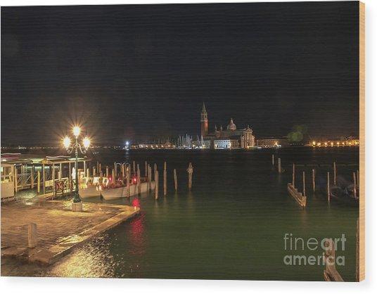 San Giorgio Maggiori At Night Wood Print