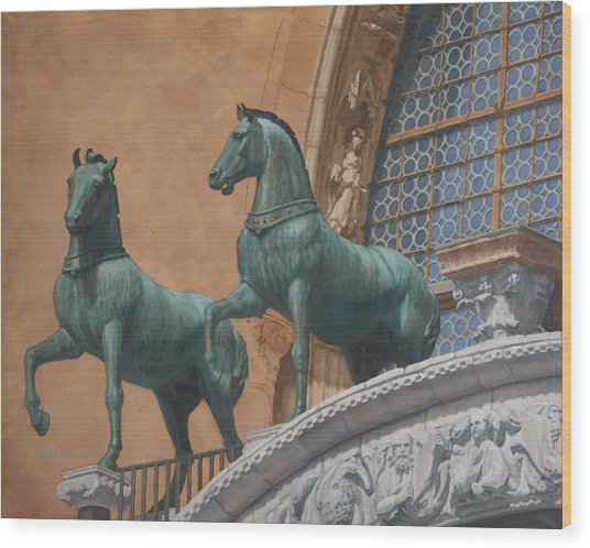 San Marco Horses Wood Print