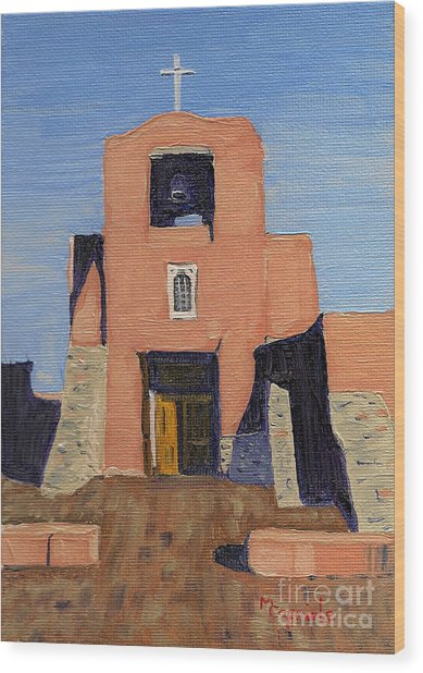San Miguel Mission In Santa Fe Wood Print
