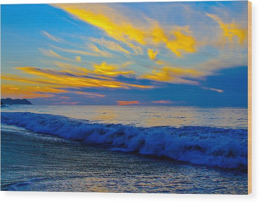 San Pancho Sunset Wood Print