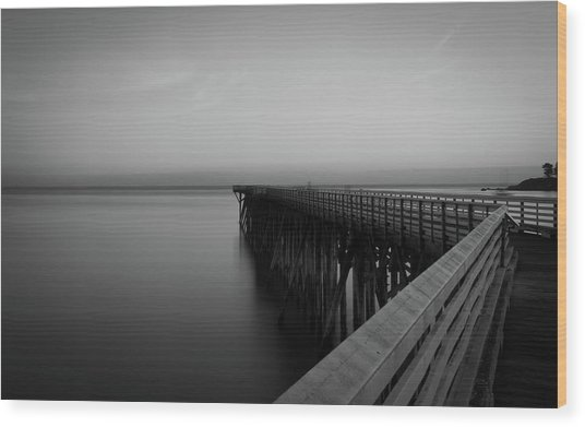 San Simeon California Long Exposure Wood Print