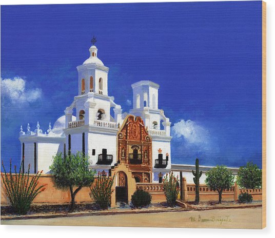 San Xavier Del Bac Mission Wood Print