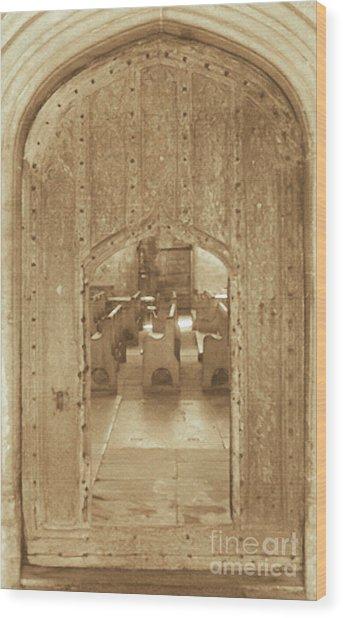 Sanctuary Wood Print by Jan Tyler