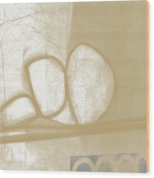 Sand And Stone 1- Contemporary Abstract Art By Linda Woods Wood Print