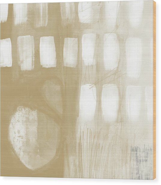 Sand And Stone 4- Contemporary Abstract Art By Linda Woods Wood Print