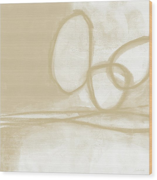 Sand And Stone 6- Contemporary Abstract Art By Linda Woods Wood Print