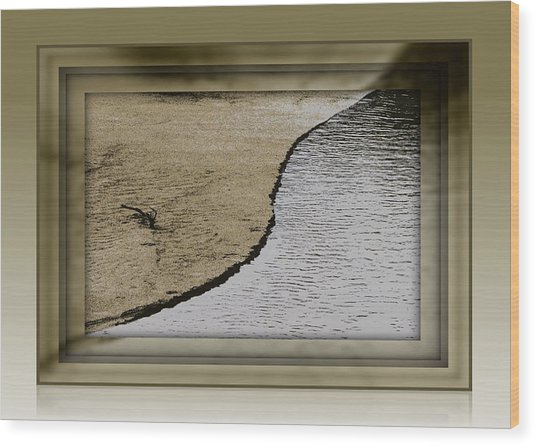 Sand And Water Wood Print by Dottie Dees