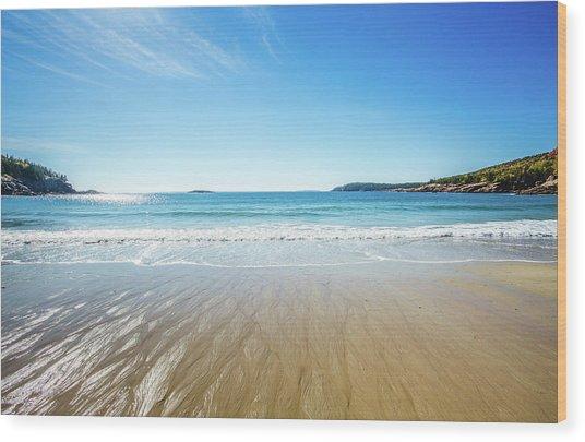 Sand Beach Wood Print
