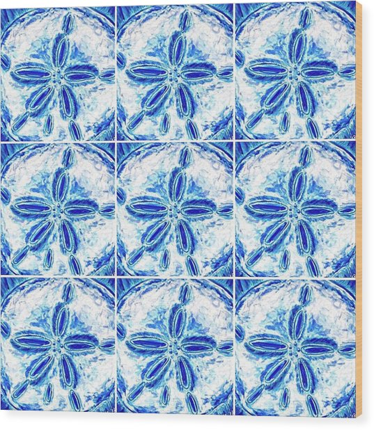 Sand Dollar Delight Pattern 3 Wood Print