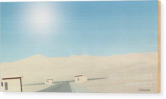Sand Dune Surreal Wood Print