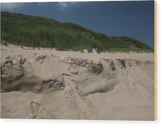 Sand Dunes II Wood Print by Jeff Porter
