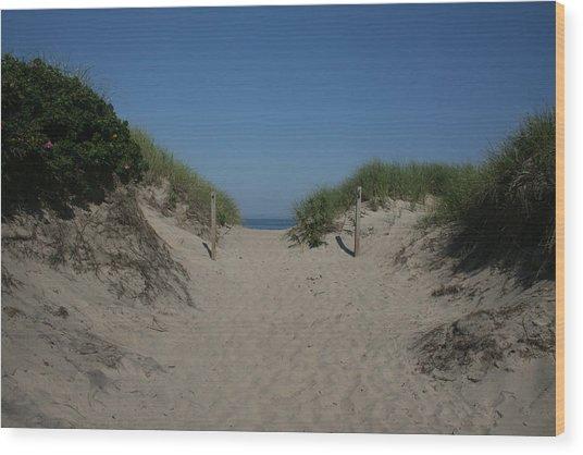 Sand Dunes Iv Wood Print by Jeff Porter