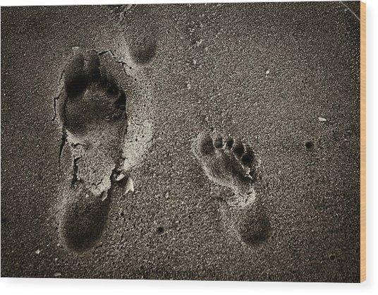 Sand Feet Wood Print