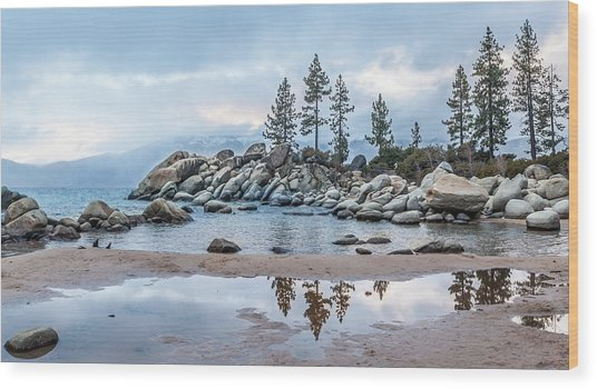 Sand Harbor Wood Print