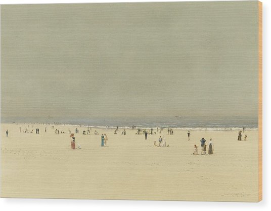 Sand Sea And Sky A Summer Phantasy Wood Print