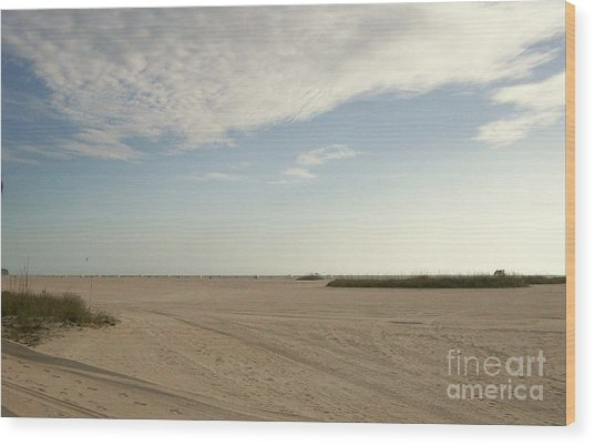 Sand Storm At St. Pete Beach Wood Print