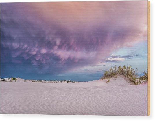 Sand Storm Wood Print