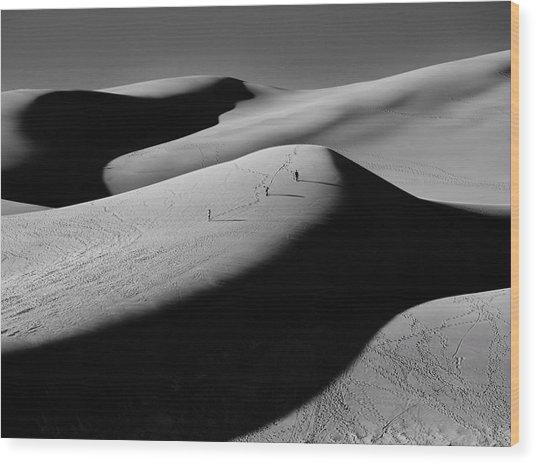 Sand Surfers Wood Print