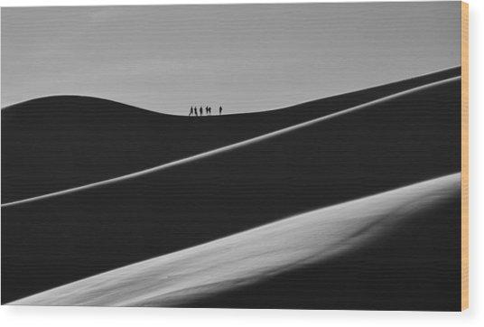 Sand Trekkers 2 Wood Print