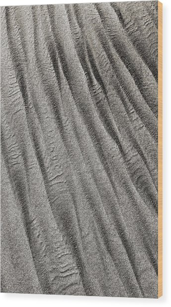 Wood Print featuring the digital art Sand Waves by Julian Perry