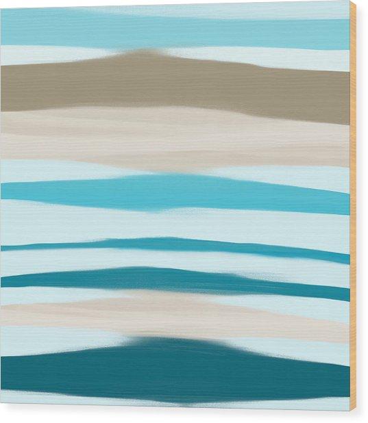 Sandbanks Wood Print by Frank Tschakert