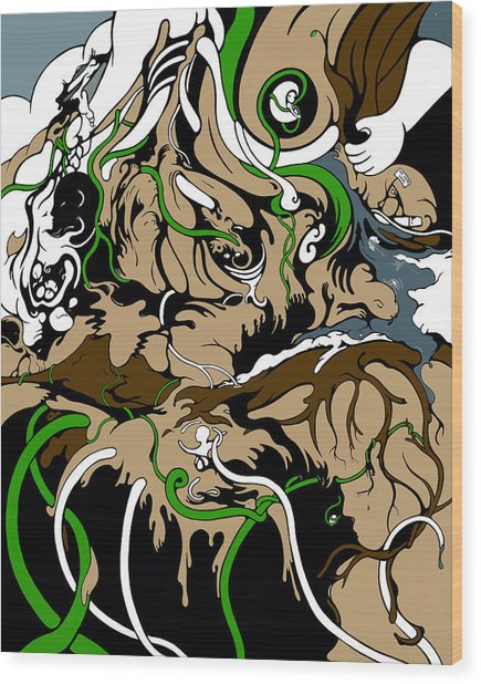 Sandbox Wood Print