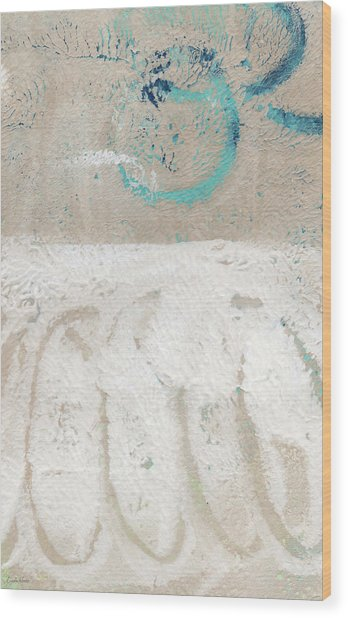 Sandcastles- Abstract Painting Wood Print