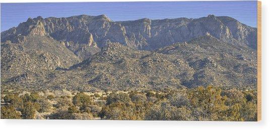 Sandia Mountain Panorama Wood Print