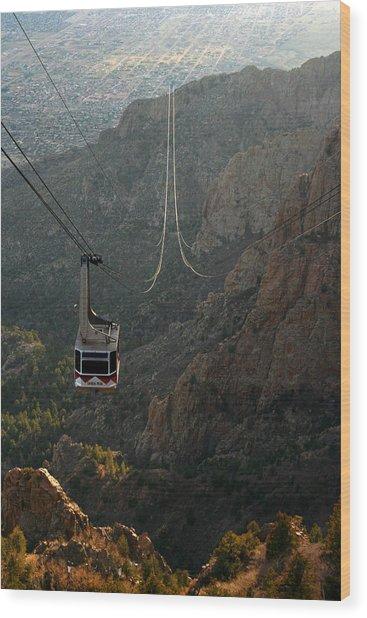 Sandia Peak Cable Car Wood Print