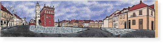 Sandomierz City Wood Print