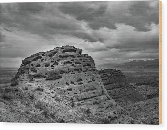 Sandstone Butte Wood Print