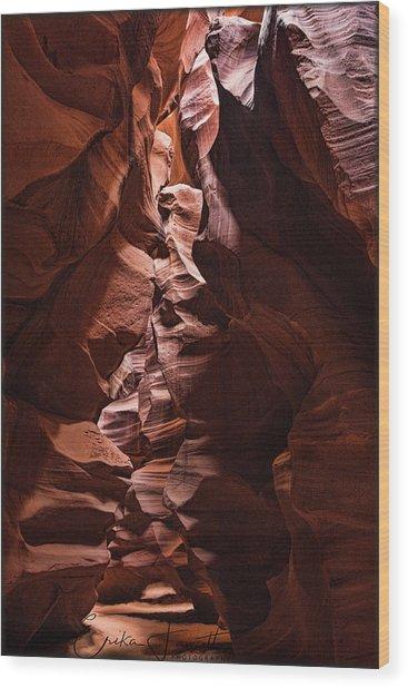 Sandstone Curves Wood Print