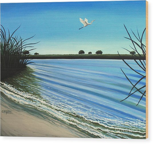 Sandy Beach Wood Print