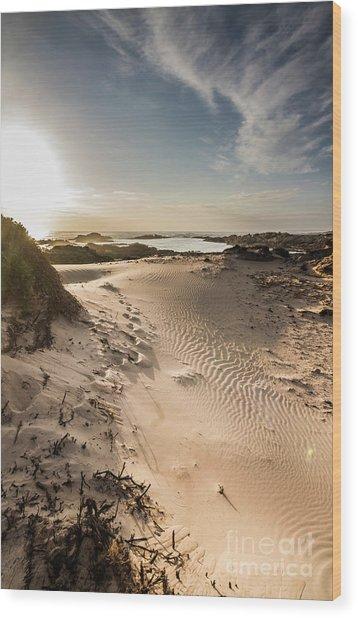 Sandy Beach Haven Wood Print
