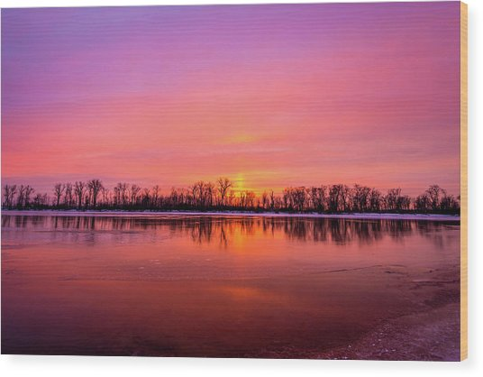 Wood Print featuring the photograph Sandy Chute Sunset by Matthew Chapman