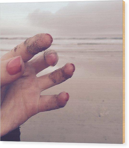 Sandy Fingers Wood Print