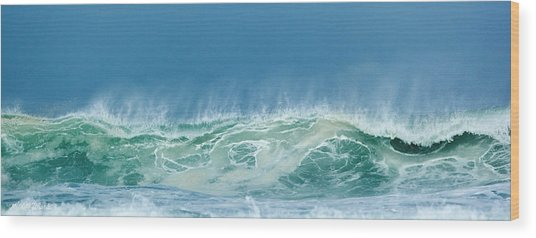 Sandy Wave Wood Print