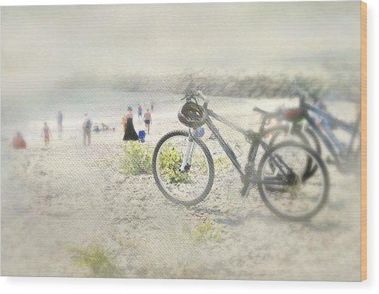 Sandy Wheels Wood Print