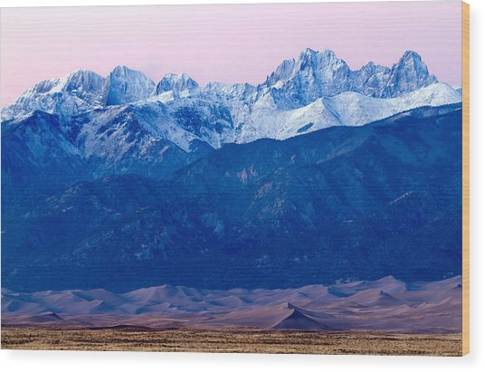 Sangre De Christo And The Great Sand Dunes National Park Wood Print