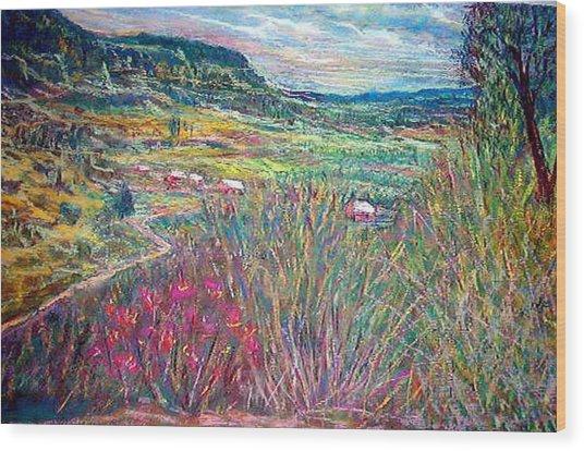 Sangre De Christo Mountain Mora Valley Wood Print by Richalyn Marquez