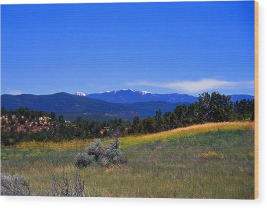 Sangre De Cristos Mountains New Mexico Wood Print by Randy Muir