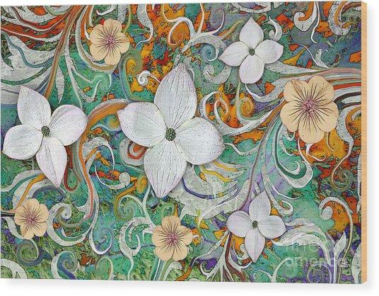 Sangria Flora Wood Print