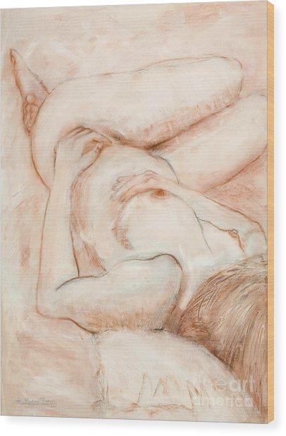 Sanguine Nude Wood Print