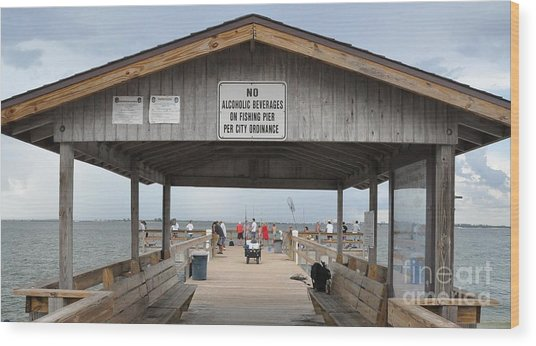 Sanibel Island Fishing Pier Wood Print
