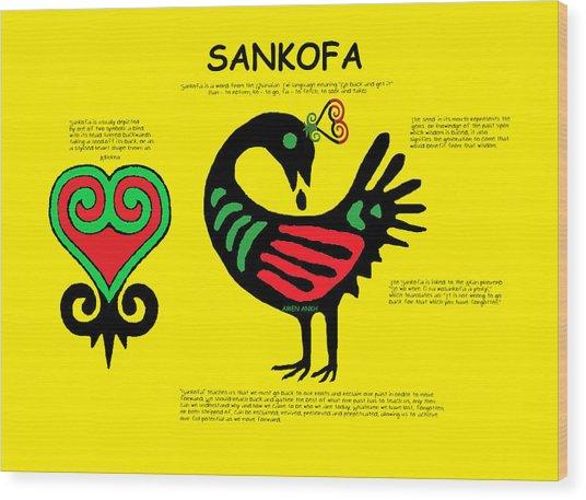 Sankofa Knowledge Wood Print
