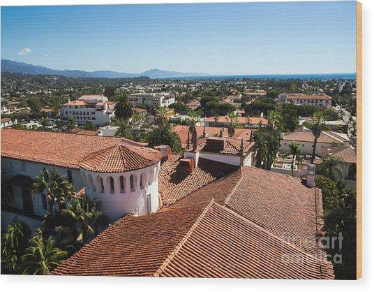 Santa Barbara From Above Wood Print