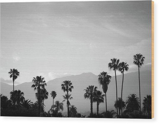 Santa Barbara I Bw Wood Print